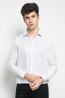 Slim Fit - Kemeja Formal - Polos - Putih