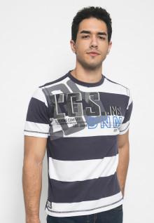 Kaos Jeans motif salur besar dua warna - LETS.323.M1538F.01.7C
