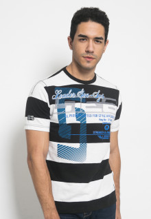 Kaos Jeans - Slim Fit - Colour Block - Hitam - LETS.323.M1541F.01.7C