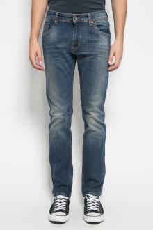 Slim Fit - Celana Jeans - Aksen Washed - Double Pocket - Dark Blue