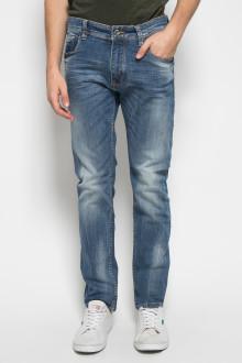 Slim Fit - Celana Jeans - Whisker - Biru