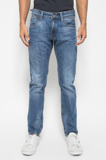 Celana Light Blue Jeans Washed Pria