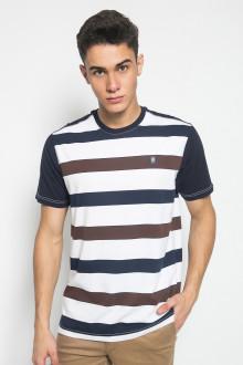 Slim Fit - Kaos Fashion - Colour Block - Navy