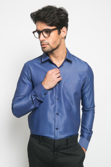 Slim Fit - Kemeja Formal - Polos - Royal Blue