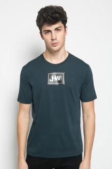 Slim Fit - Kaos Casual Active - Gambar Sablon JHW - Hijau Tua
