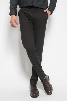 Slim Fit - Celana Formal - Back Pockets - Hitam