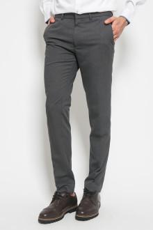 Slim Fit - Celana Formal - double Pockets - Abu Gelap