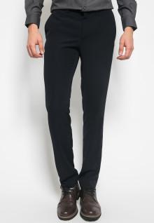 Slim Fit - Celana Formal - double Pockets - Hitam