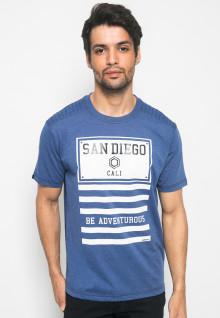 Kaos Active Fashion motif sablon SAN DIEGO - Biru