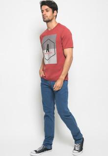 Kaos Active Fashion motif sablon URBAN STYLE - Merah