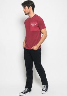 Kaos Active Fashion Pria motif crew neck sablon URBAN STYLE - Merah