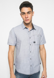 Slim Fit - Kemeja Fashion - Single Pocket - Light Grey