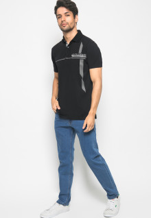 Kaos Fashion Denim LGS warna Hitam
