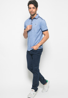 Kaos Polo Fashion Pria warna Biru