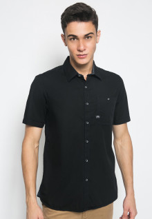 Slim Fit - Kemeja Fashion - Single Pocket - Hitam
