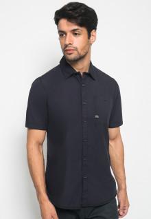 Slim Fit - Kemeja Fashion - Polos - Navy