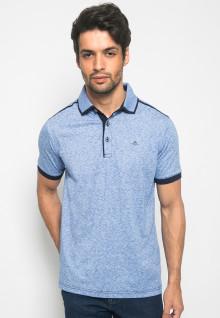 Kaos Polo Fashion Pria warna Biru