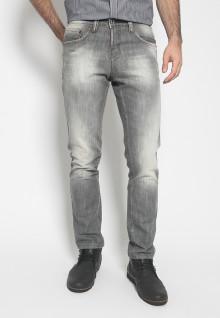 Celana Panjang Jeans - Warna Hitam - Slim Fit
