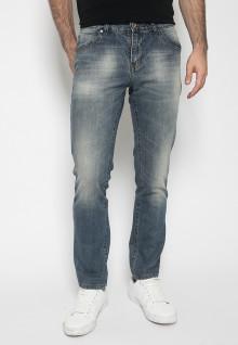 Celana Panjang Jeans - Warna Biru - Slim Fit