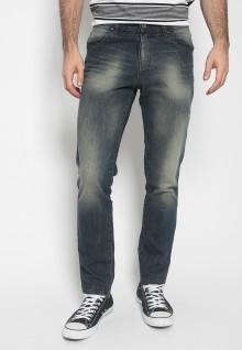 Celana Panjang Jeans - Warna Biru - Slim Fit - Jeans