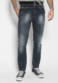 Celana Panjang Jeans - Warna Biru - Slim Fit - Celana Jeans