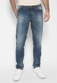 Celana Panjang Jeans - Warna Biru - Slim Fit - Jeans Pria