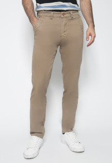 Celana Panjang Katun - Warna Khakis - Double Back Pocket