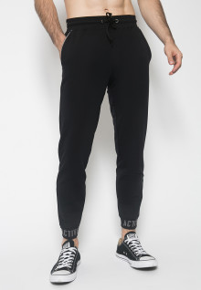 Celana Jogger - Warna Hitam - Double Back Pocket