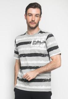Kaos Casual - Warna Grey - Lengan Pendek