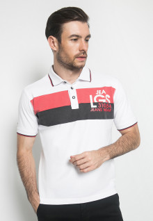 Kaos Fashion - Warna Putih - Lengan Pendek - Polo