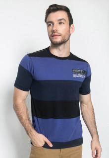 Kaos Fashion - Warna Biru - Lengan Pendek