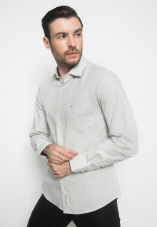 Kemeja Formal - Warna Putih - Lengan Panjang - Motif Polos