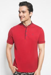 Kaos Polo - Merah - Kerah Shanghai