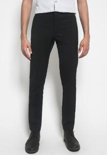 Celana Formal - Johnwin - Hitam Polos