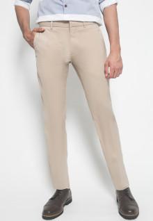 Celana Formal - Johnwin - Krem Polos