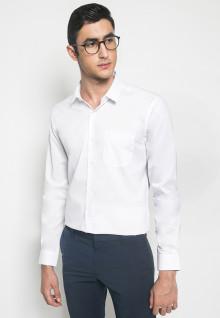 Kemeja Formal - Lengan Panjang - Putih Polos