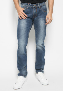 Jeans Premium - Biru Dongker - Aksen Washed