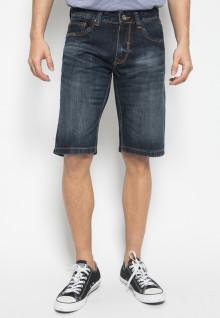 Jeans Pendek - Style Washed - Biru
