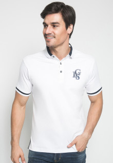Kaos Polo - Jeans  - LGS - Putih