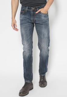 Jeans premium - Biru Gelap - Aksen Washed