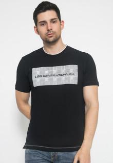 Kaos LGS - Hitam - Sablon Kotak Putih