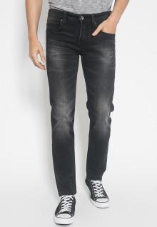 Jeans Premium - Hitam - Aksen Washed