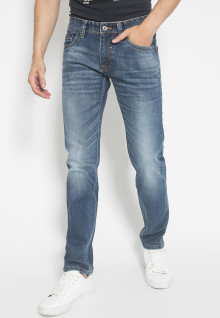 Jeans Premium - Biru - Aksen Full Washed