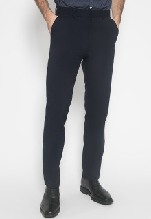 Celana Formal - Johnwin - Hitam - Motif Polos