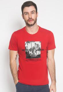 Kaos - LGS - Merah - Sablon Kotak