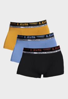 LGS Underwear - Boxer - Paket 3 - Orange Biru Hitam - Size Besar