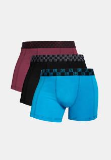 LGS Underwear - Boxer - Paket 3 - Biru Hitam Merah - Size Besar