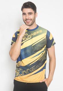 Kaos Sport - LGS Runners - Kuning Biru