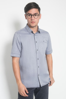 Regular Fit - Kemeja Casual - Motif Polos - Ungu
