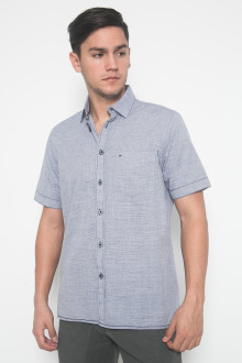 Regular Fit - Kemeja Casual - Motif Polos - Ungu Muda